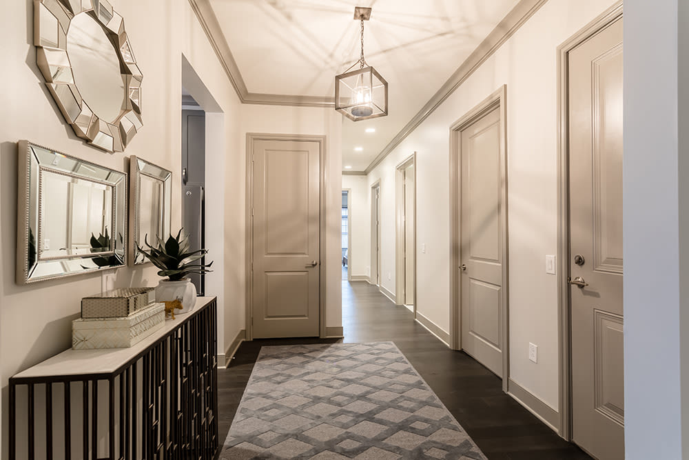 Gorgeous main hallway at Waters Edge Apartments in Webster, New York