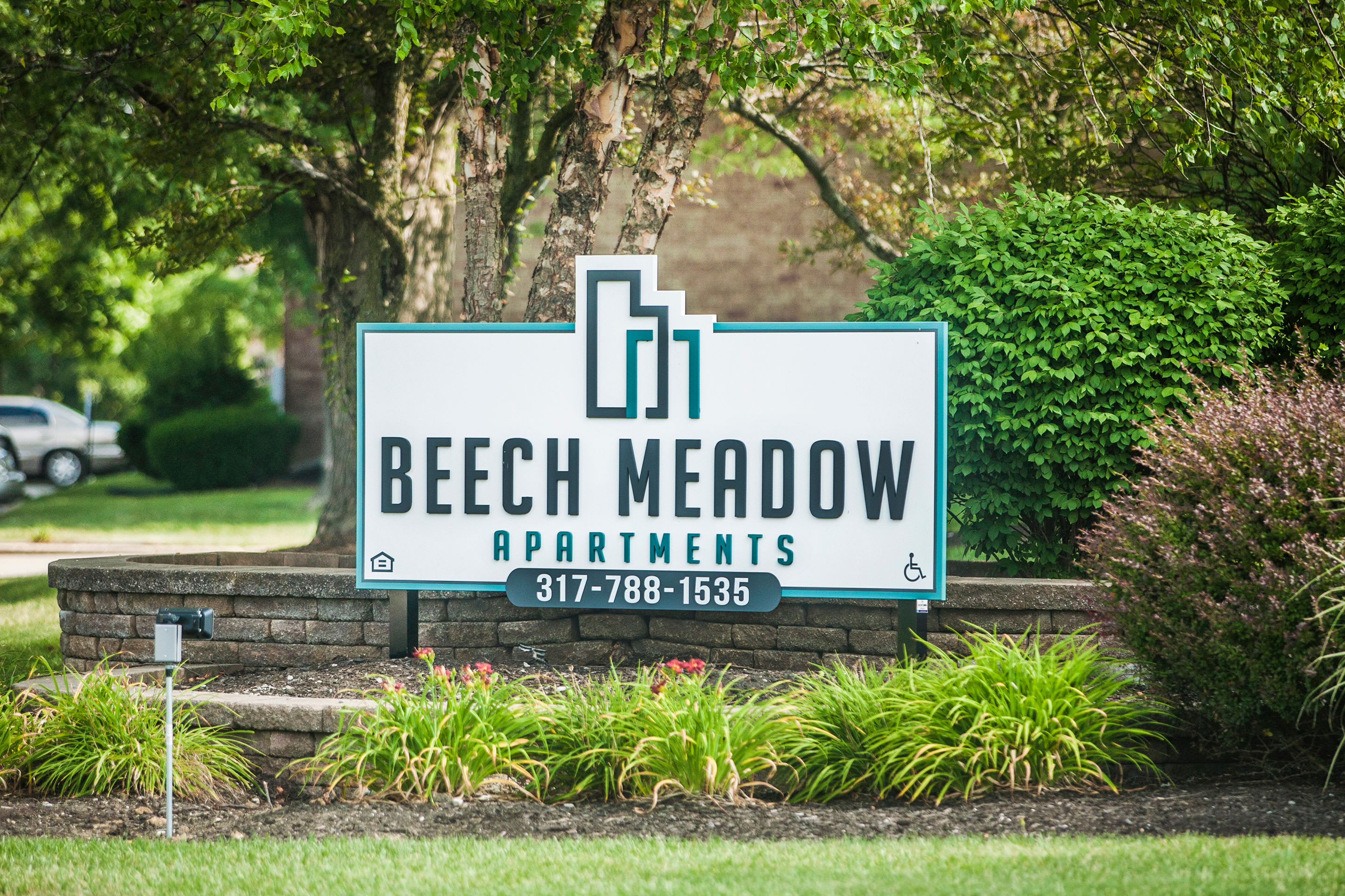 Entry Sign at Beech Meadow Apartments