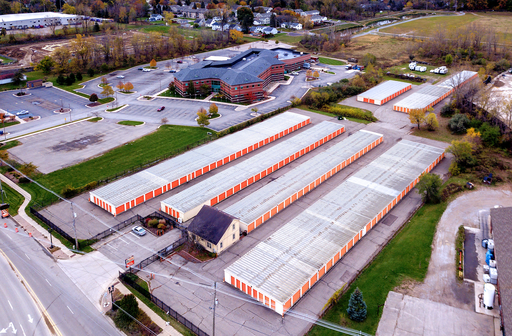 Aerial view of Prime Storage in Lansing, Michigan