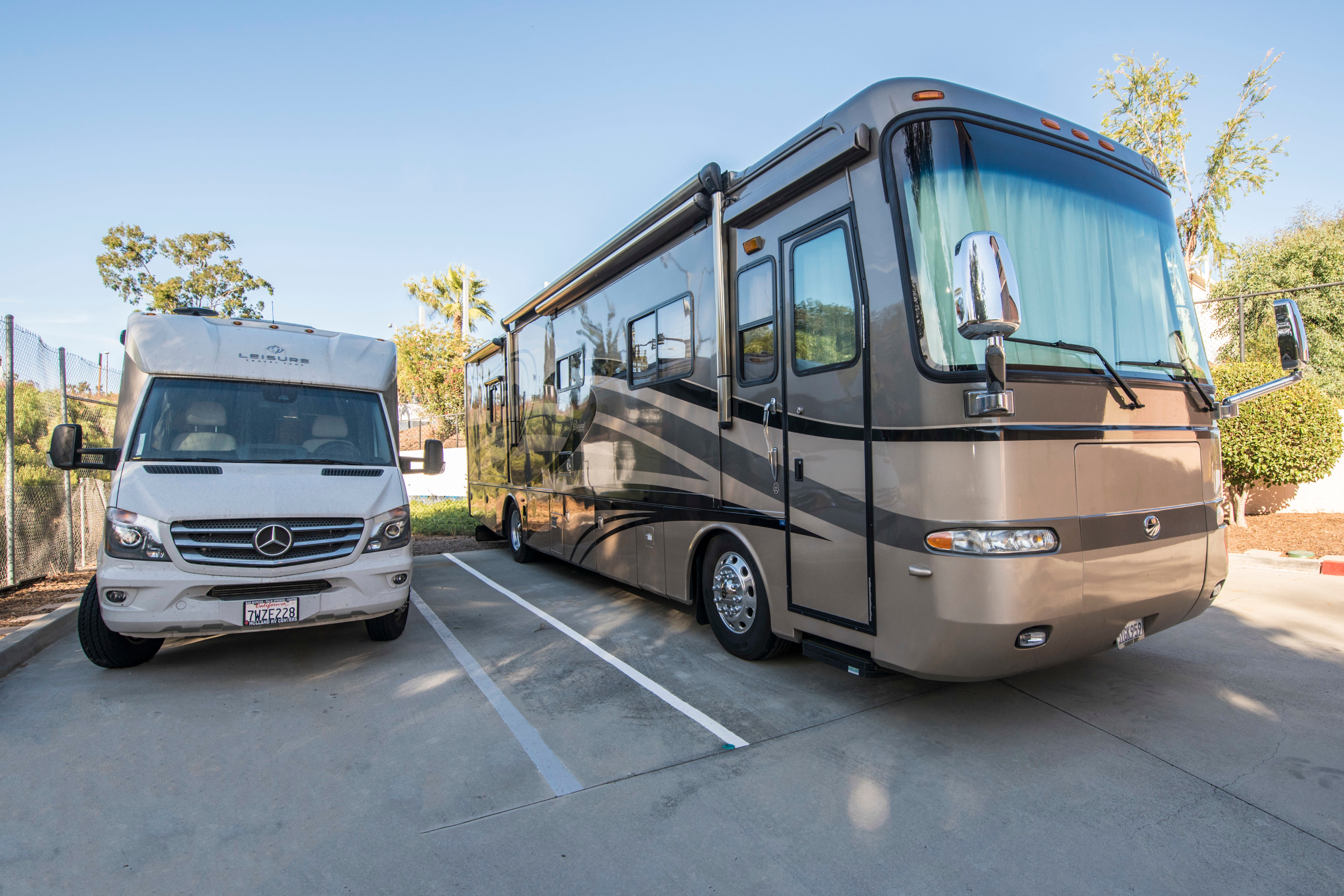 RV and boat parking available at San Diego Self Storage