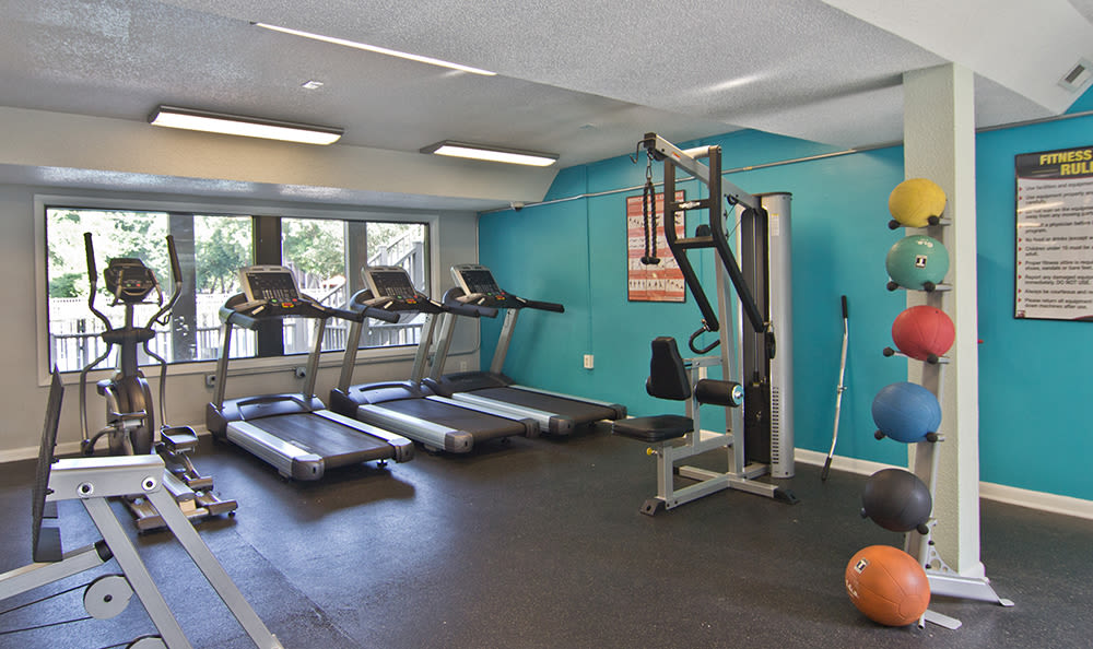 Our apartments in Raleigh, North Carolina showcase a modern fitness center
