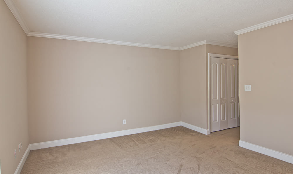 Spacious bedroom at apartments in Raleigh, North Carolina