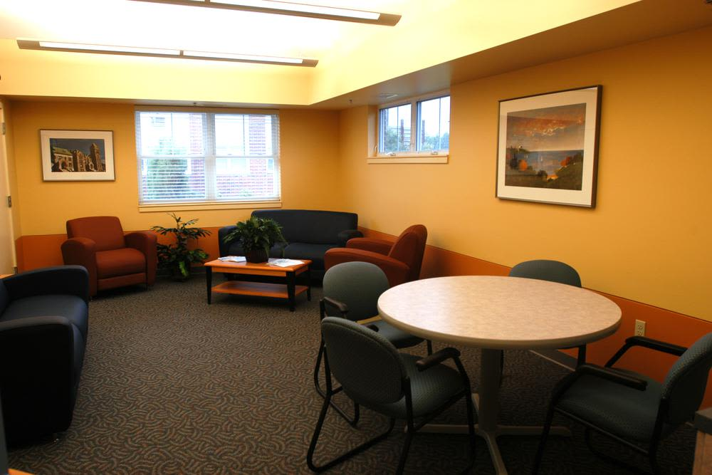 Lounge area at Bay Village in Fall River, Massachusetts