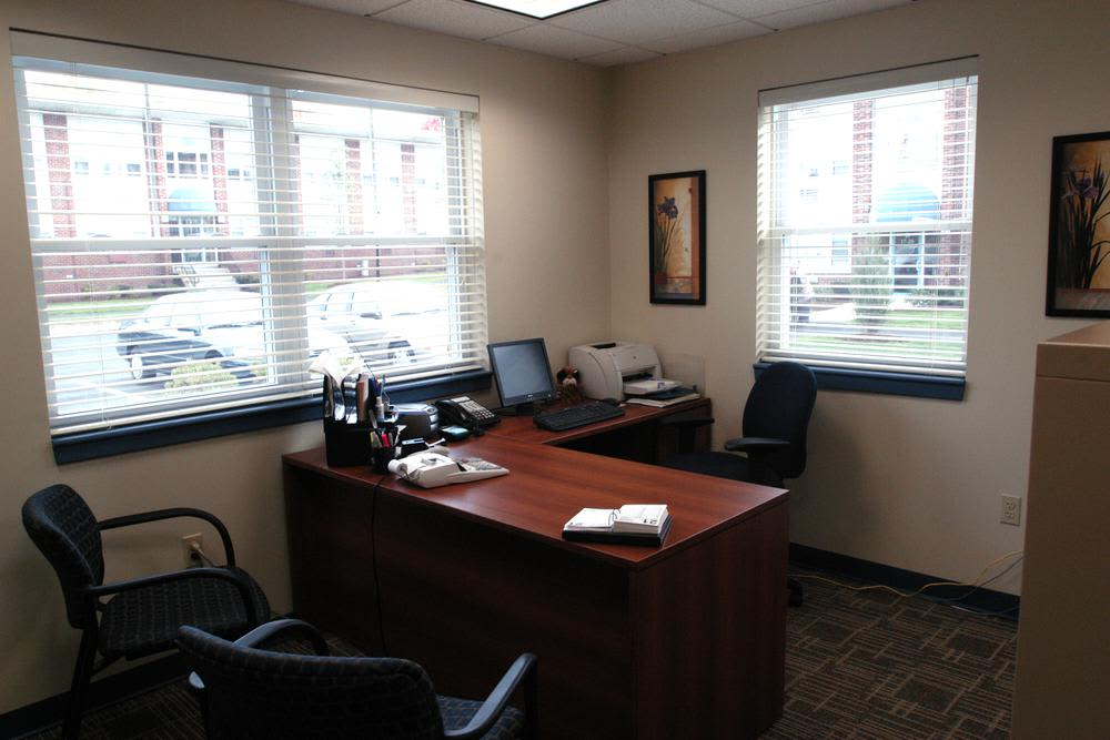 Office managers desk at Bay Village in Fall River, Massachusetts