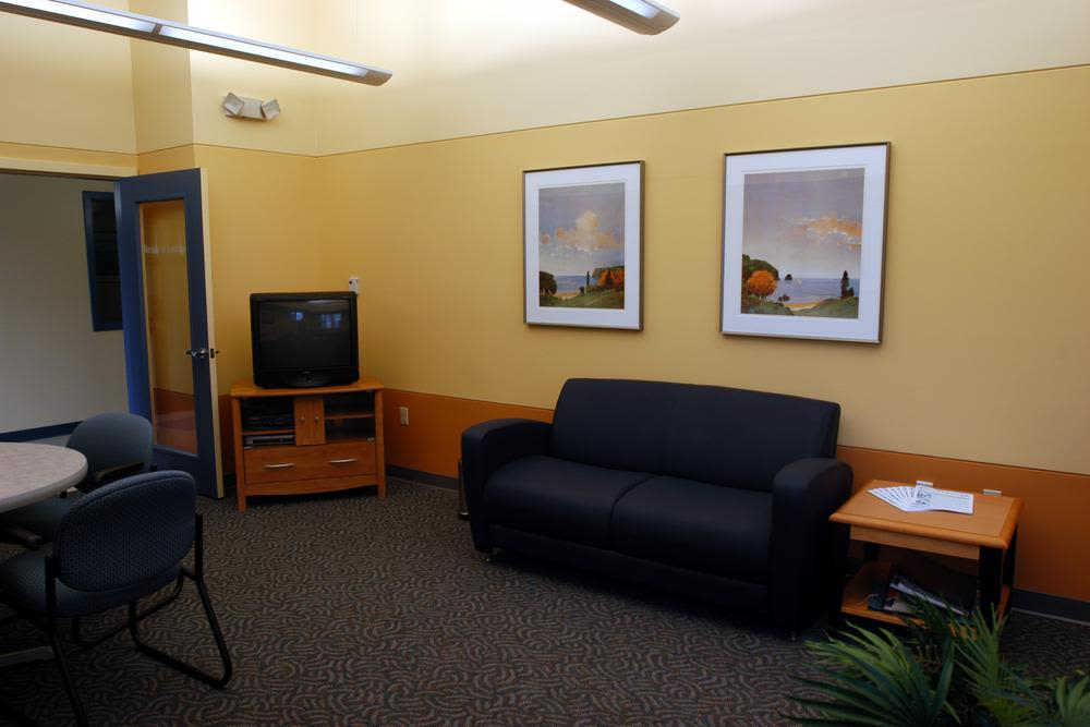 Office waiting area at Bay Village in Fall River, Massachusetts