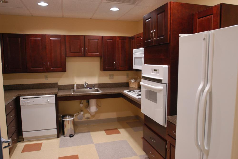 Fully equipped kitchen at Bay Village in Fall River, Massachusetts