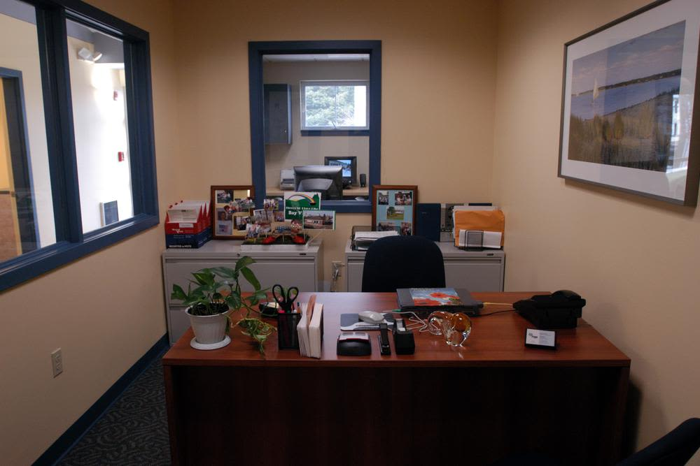 Leasing desk at Bay Village in Fall River, Massachusetts