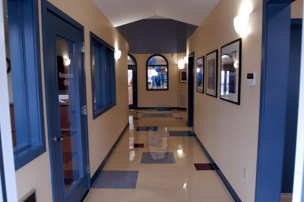Interior hallways at Bay Village in Fall River, Massachusettshallways