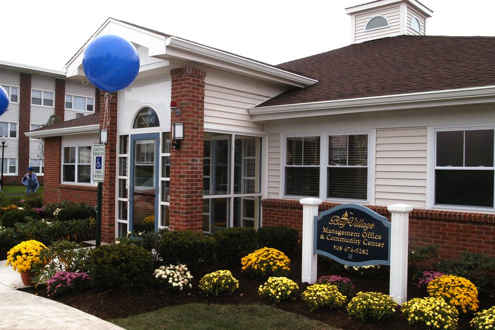 Leasing office at Bay Village in Fall River, Massachusetts