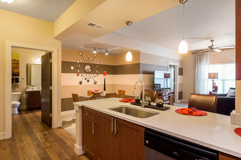 Kitchen and Living Area at The Atlantic Aerotropolis