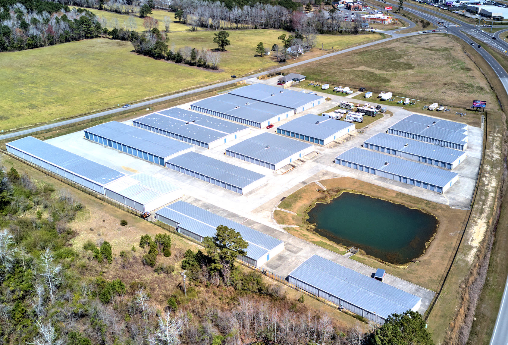 Aerial view of Prime Storage in Shallotte, North Carolina