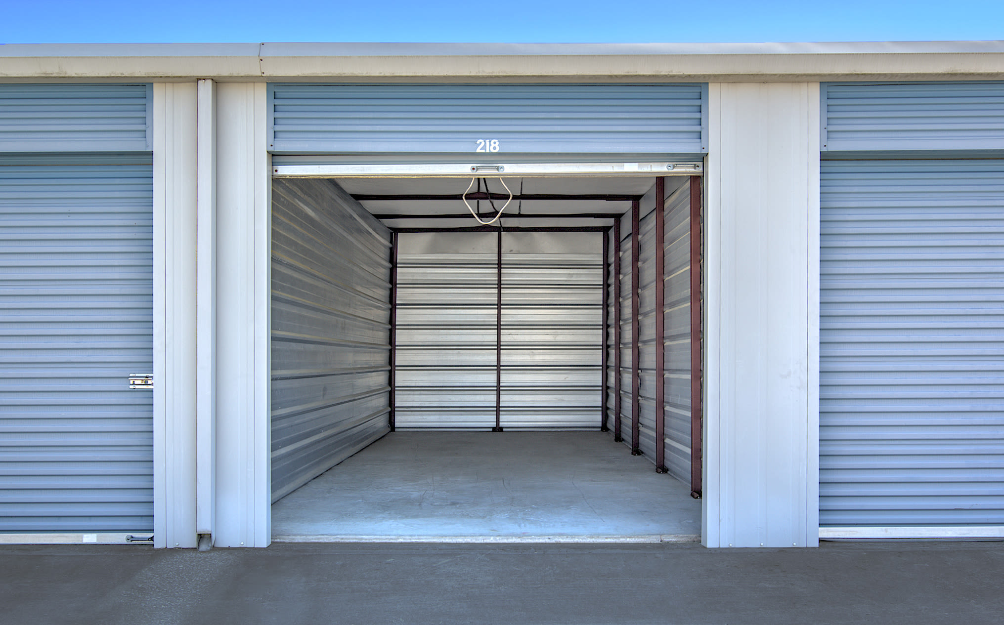 Interior view of unit at Prime Storage in Shallotte, North Carolina