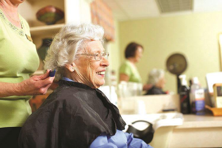 Senior living residents enjoy salon access at Discovery Commons in Bonita Springs, Florida