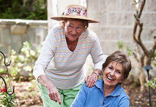 Senior residents gardening in Bonita Springs, Florida