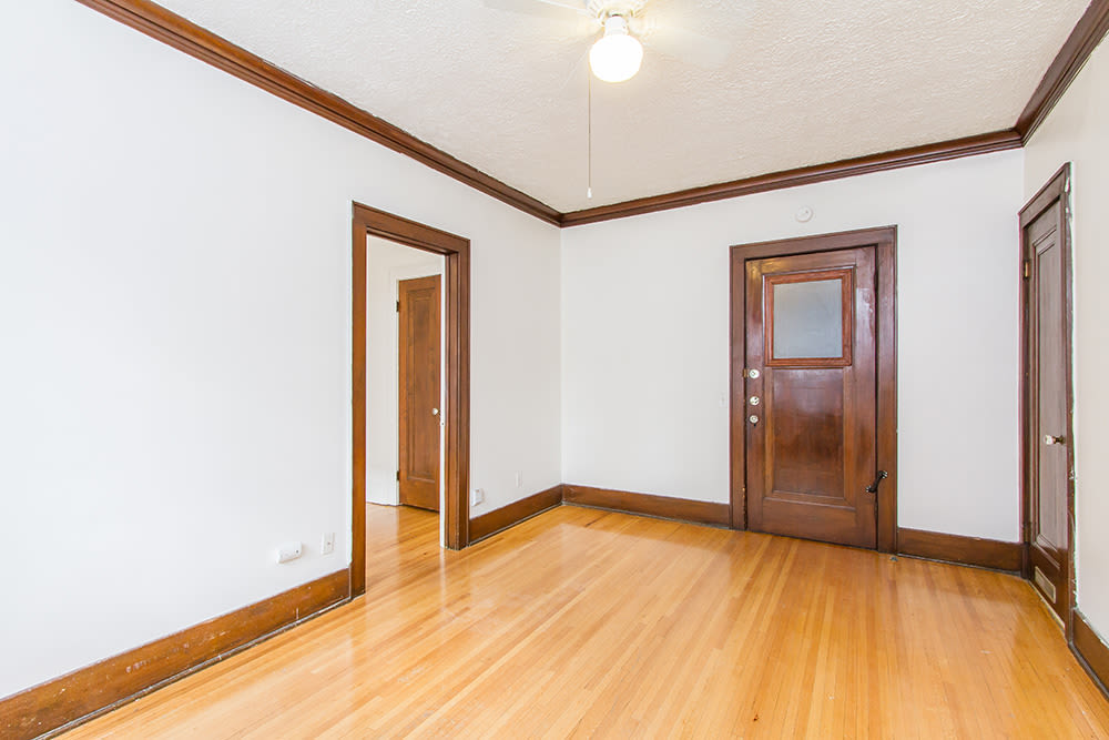Hardwood floors at Mayflower Apartments