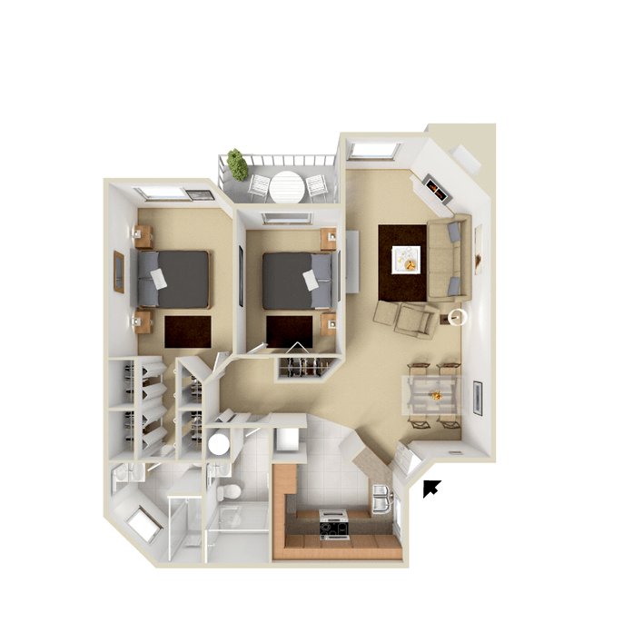 2 Bedroom Apartment 996 sq.ft in Westminster, Colorado