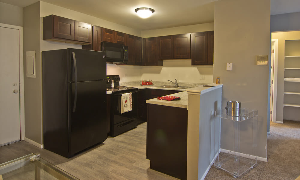 Kitchen at The Flats at Gladstone in Glendale Heights, Illinois