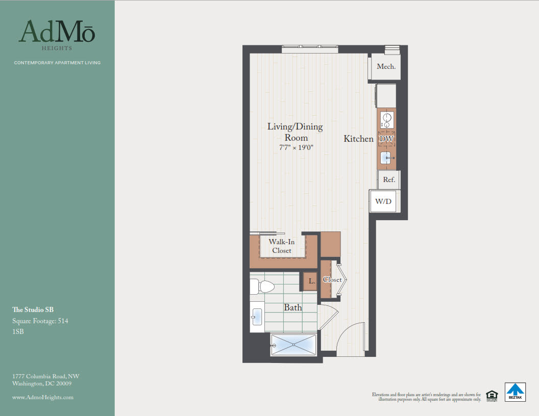 Luxury Studio, Loft & 1 Bedroom Apartments in Washington, DC ...