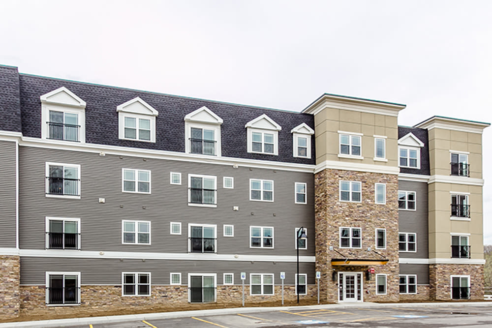 Exterior of Ellison Heights Apartments in Rochester, New York