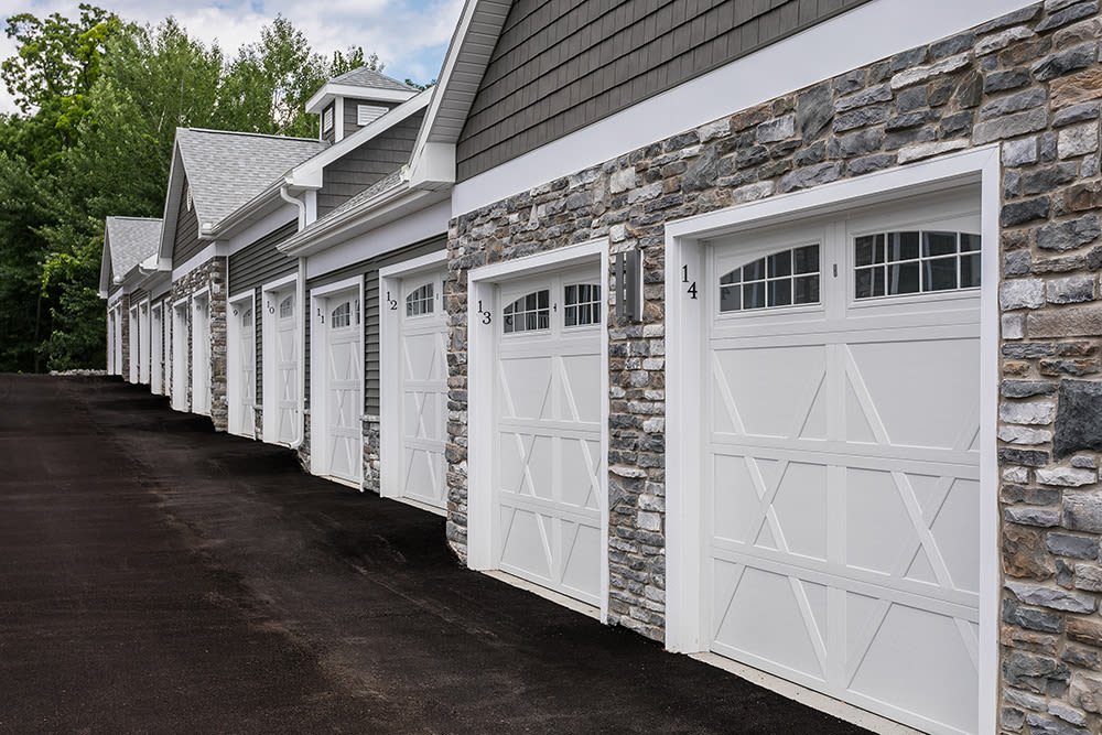 Garages Are Included at Waters Edge Apartments in Webster, New York