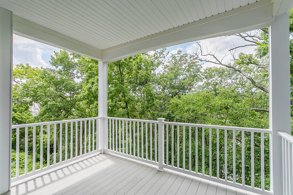 Nice balcony at Waters Edge Apartments in Webster, New York