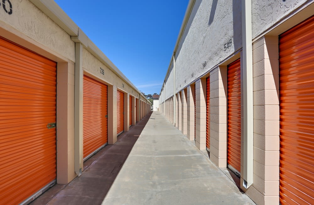 Outside storage at A-1 Self Storage in Oceanside, California