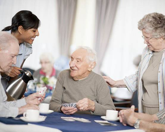 Residents enjoying tea at Randall Residence of Centerville in Centerville, Ohio