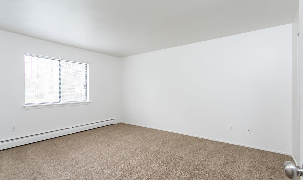 Spacious bedroom at Lake Vista Apartments in Rochester