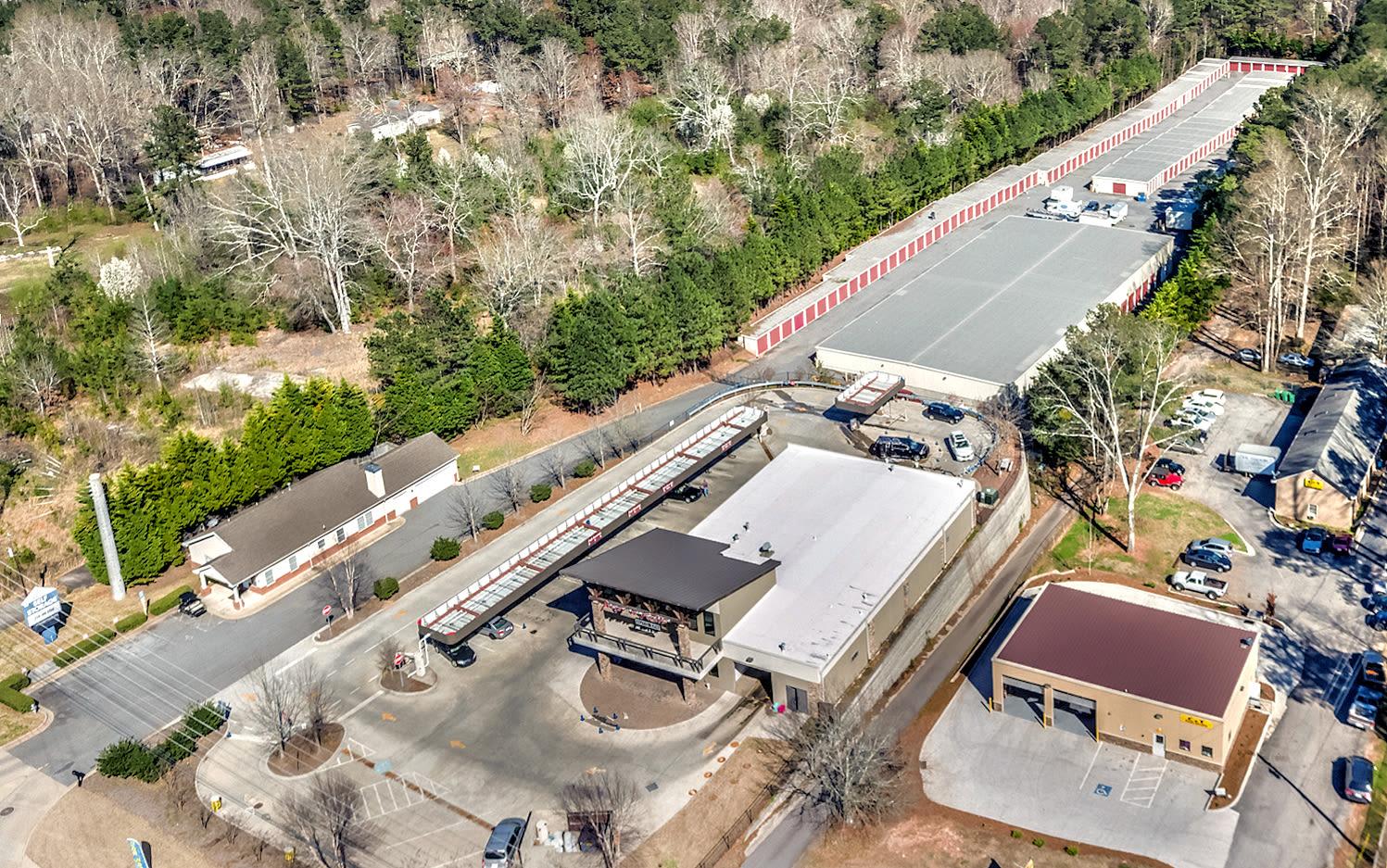 Aerial view of Prime Storage in Acworth, Georgia