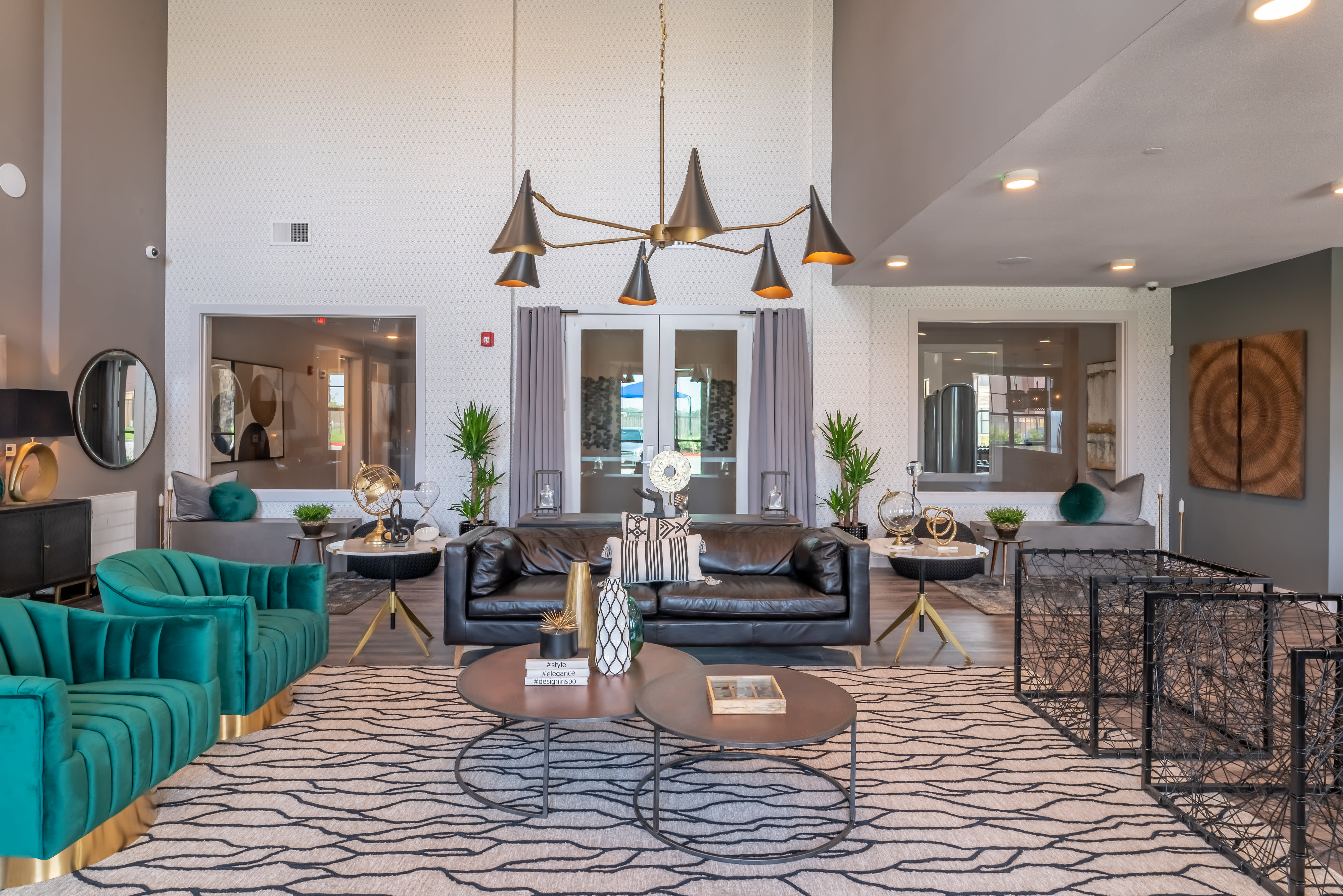 Relax in our gorgeous Resident Lounge and Clubhouse at Haven at Liberty Hills in Houston, TX