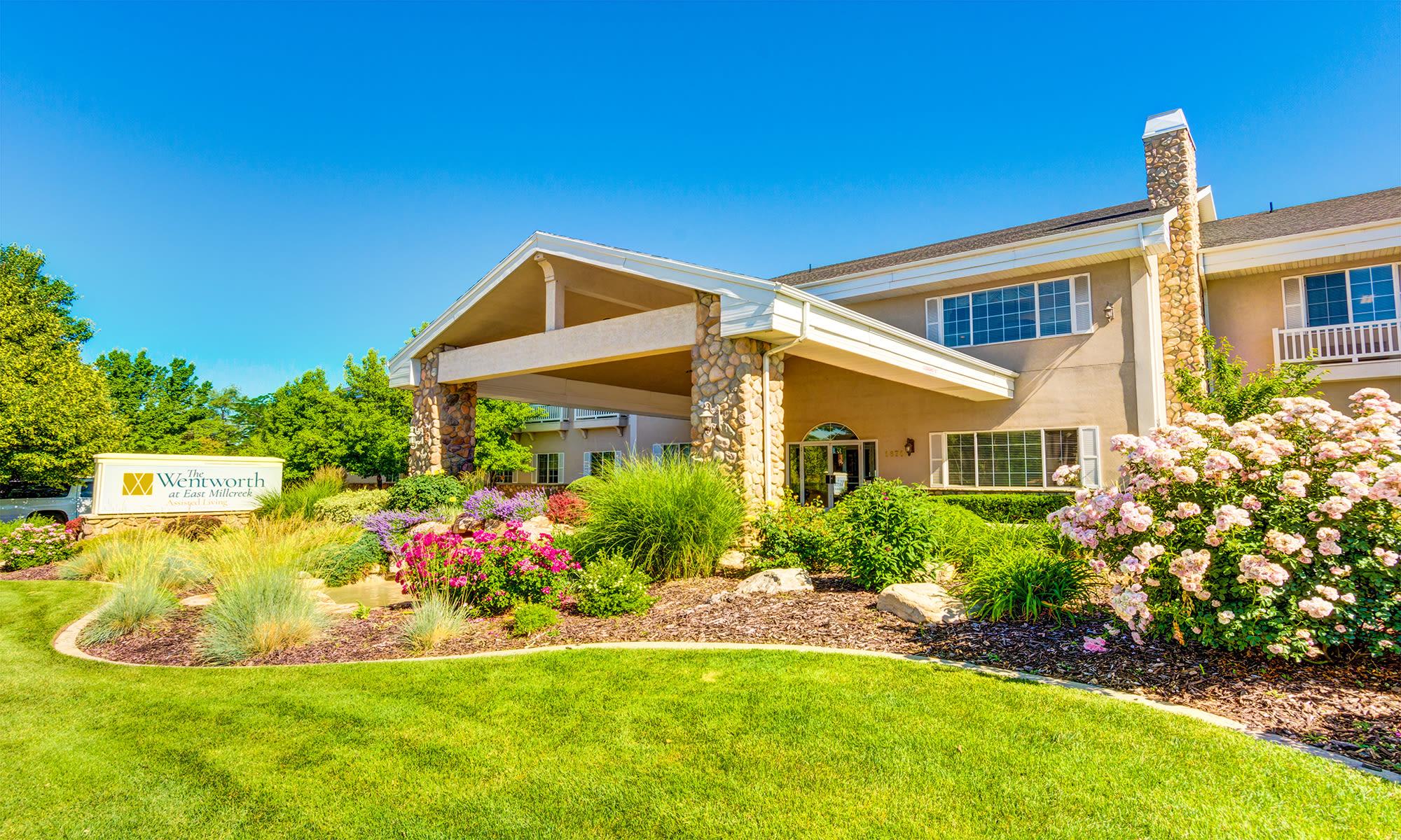 Senior living community in Salt Lake City has a clean exterior building