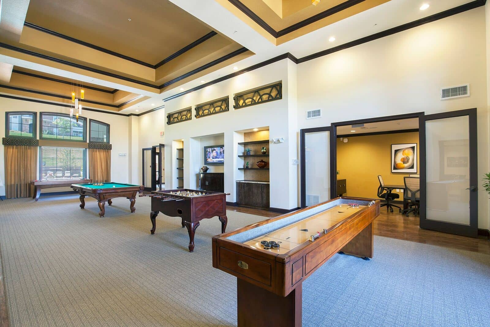 Pool Table and Game Room at Integra Hills Preserve Apartments