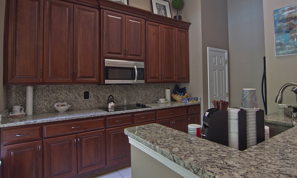 Clubhouse kitchen at Highlands of Montour Run in Coraopolis, PA