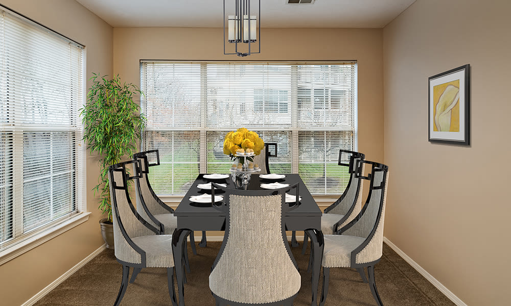 Dining room at Highlands of Montour Run