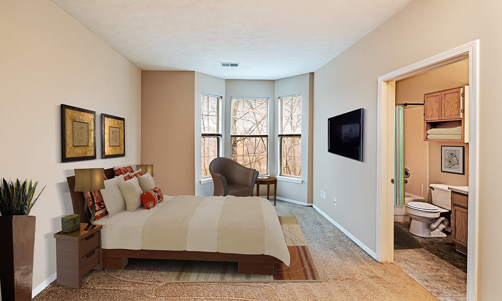 Spacious bedroom at Highlands of Montour Run in Coraopolis, PA