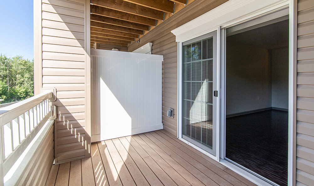 Private balcony at apartments in Rochester, New York