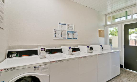 Modern laundry center at Mosaic Hayward in Hayward, California