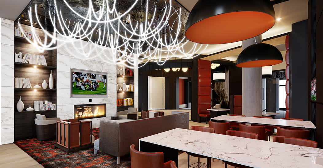 City Centre Ithaca offers a modern clubhouse in Ithaca, New York