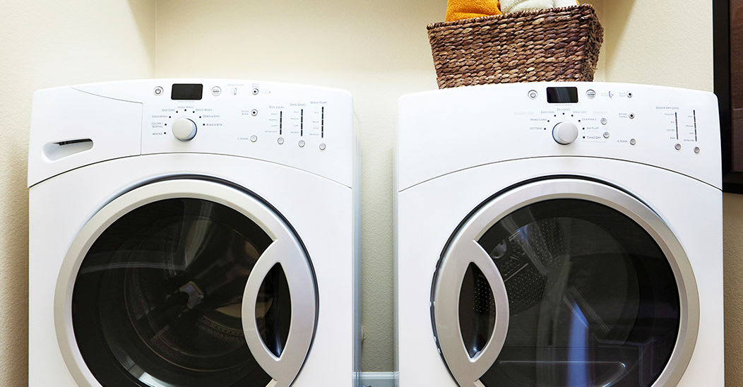 Modern washer/dryer in our Ithaca, New York apartments