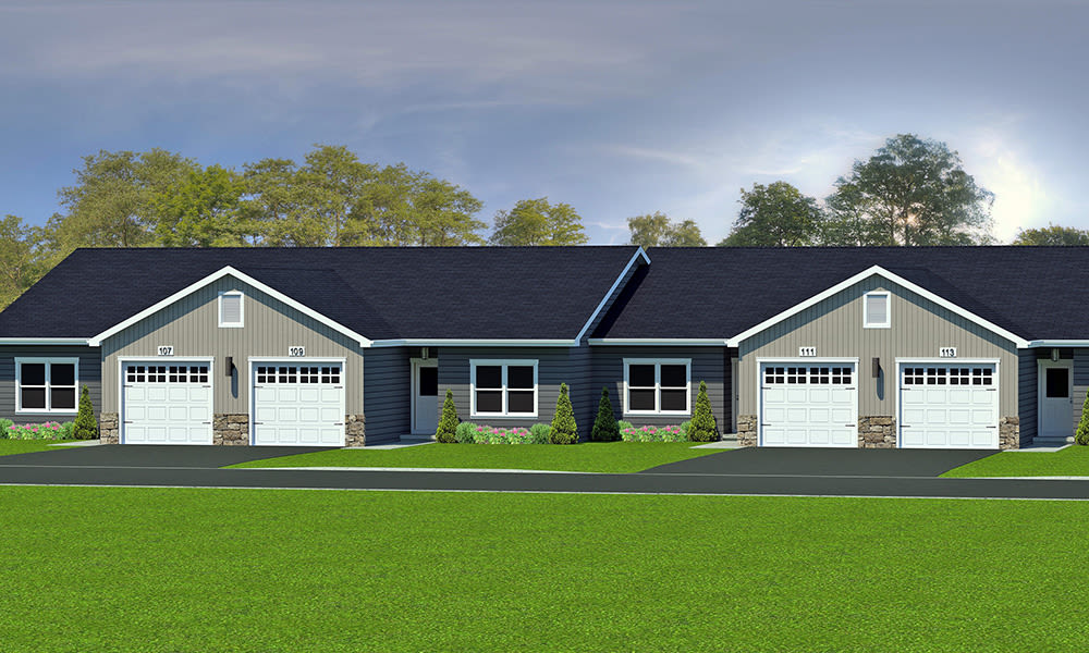 Exterior rendering of The Elms of Bloomfield in Bloomfield, New York