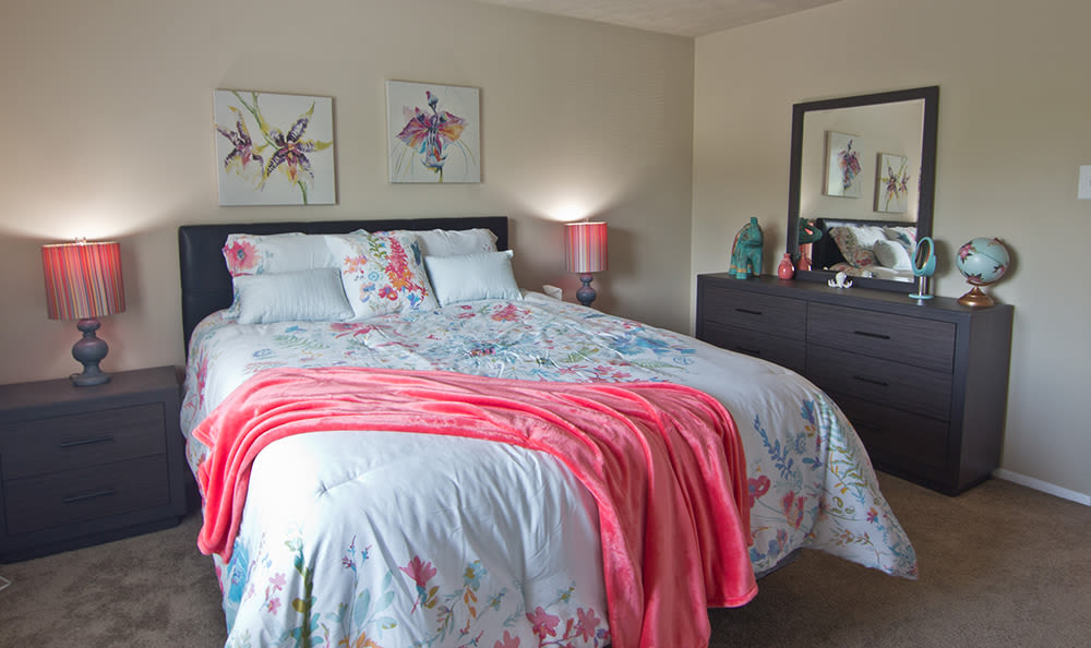 Beautiful bedroom at Park Place of South Park in South Park, PA