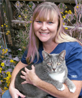 Dr. Meghan Holcombe at Black Forest Veterinary Clinic in Colorado Springs, Colorado