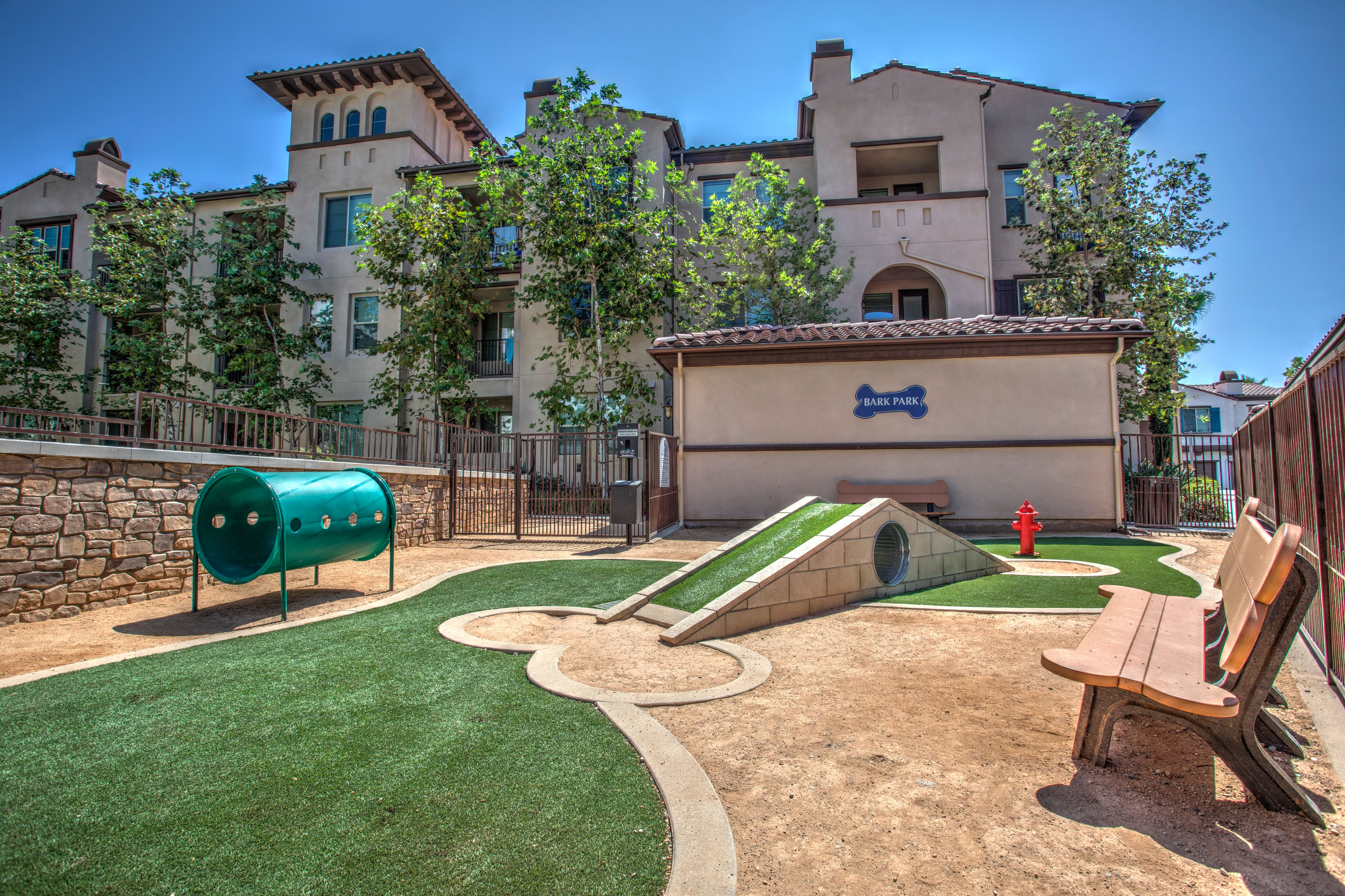 The Bark Park, one of Palisades Sierra Del Oro's numerous community amenities.