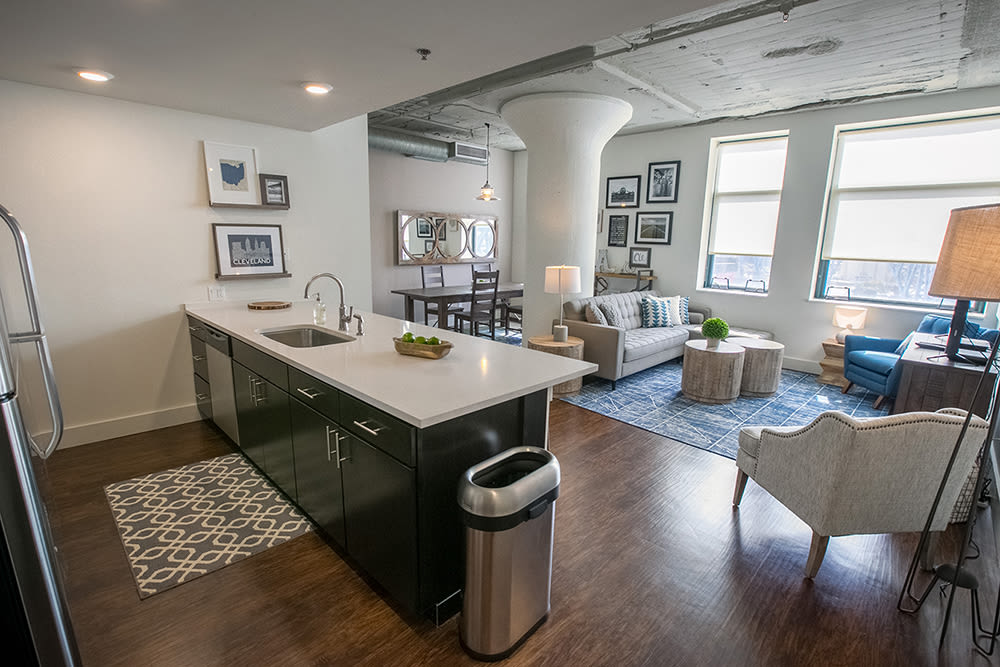 Open floor plans at The Archer in Cleveland, Ohio