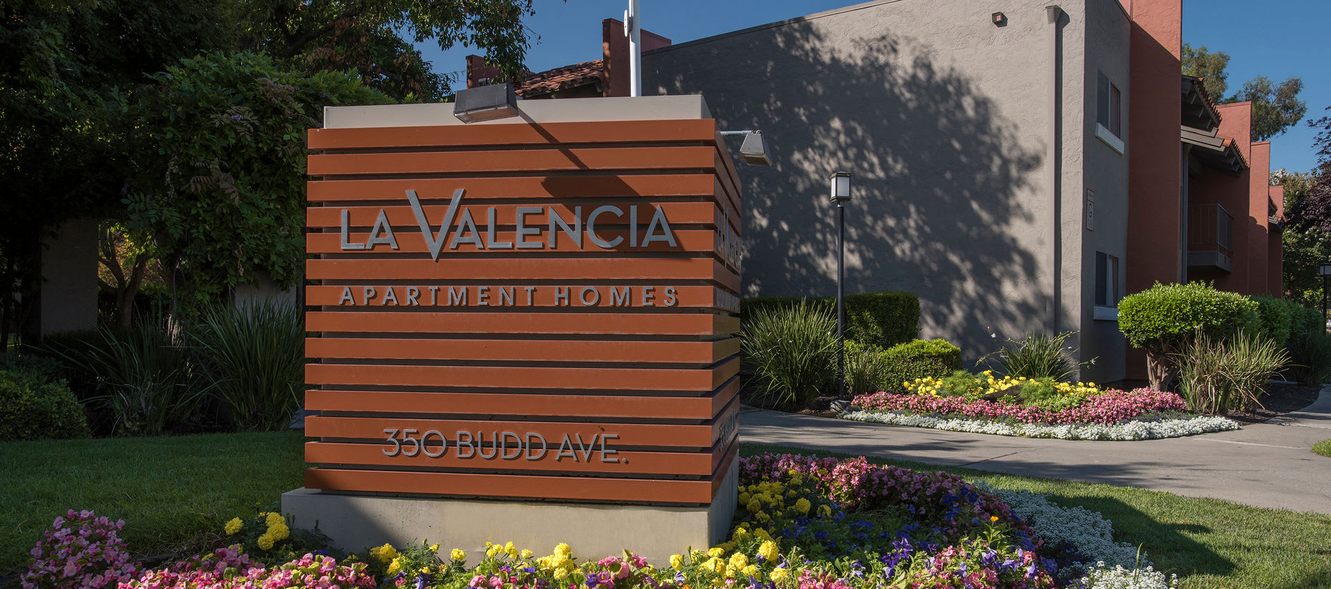 Housing sign at La Valencia Apartment Homes in Campbell, California