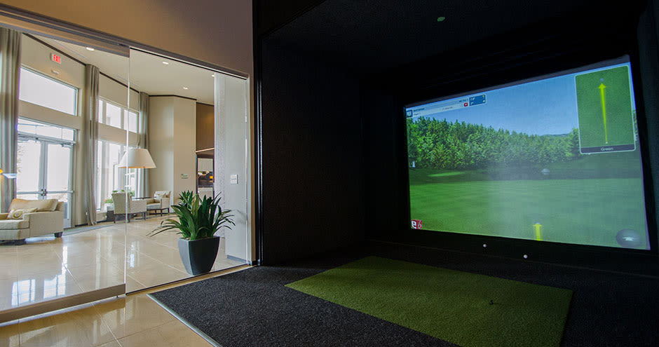 Golf simulator in Richardson, Texas