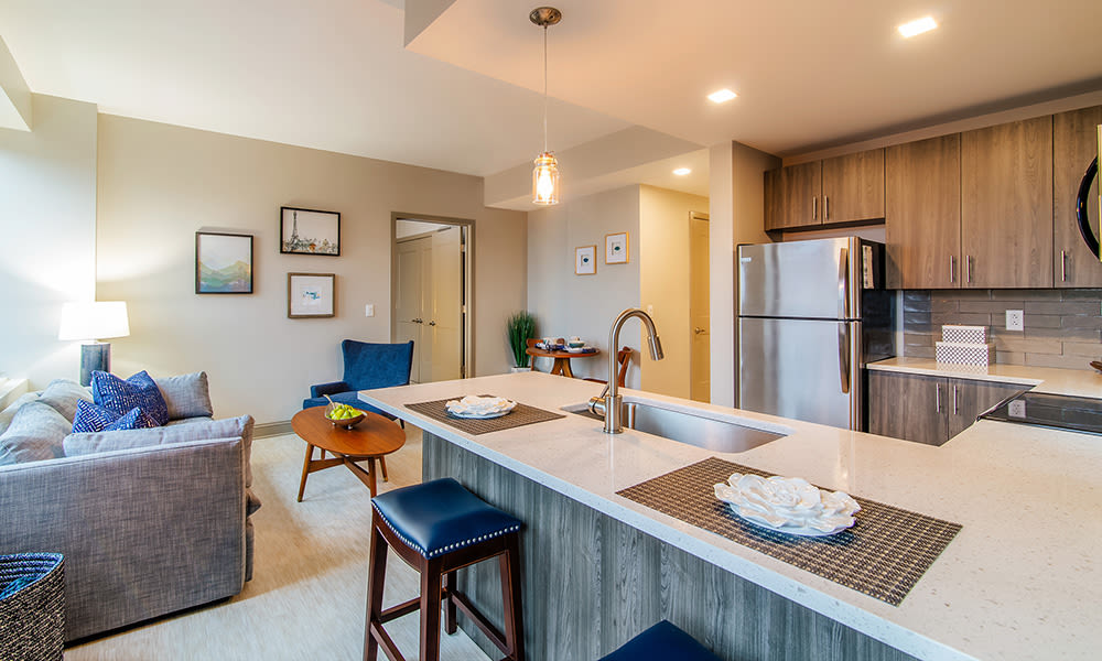 Beautiful kitchen at apartments in Rochester, New York