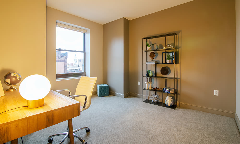 The Linc offers a spacious den in Rochester, New York