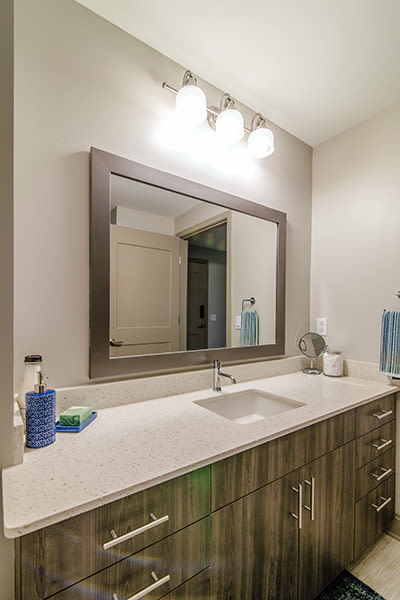 Beautiful bathroom at apartments in Rochester, New York