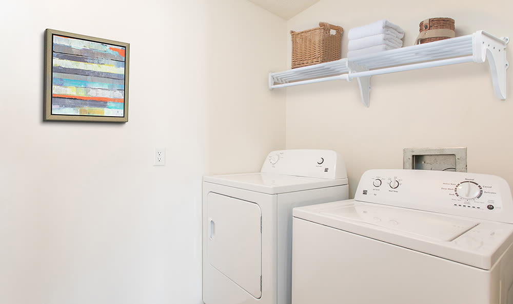 Washer and dryer at Avon Commons home in Avon, NY